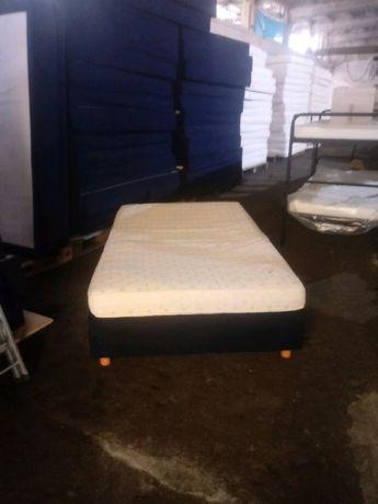 Łóżko kontynentalne 120x200 + materac solidne niemieckie