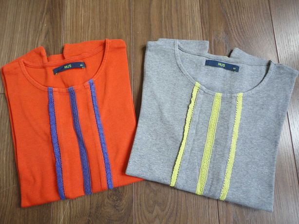 Tam.10A - MUS 2 t-shirts com rendinhas