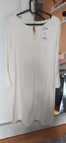 Nowa kremowa sukienka Orsay 36