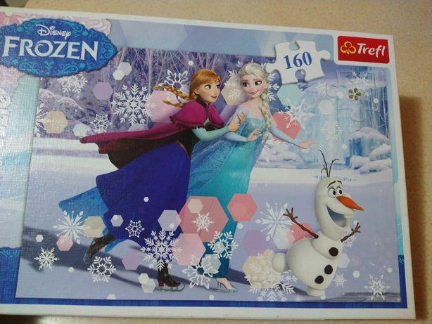 Puzzle 160 elementów Frozen Kraina Lodu + gratis