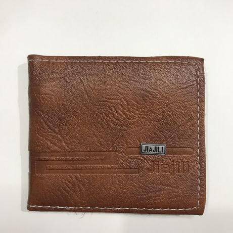Коричневый кошелек портмоне мужской JIAJILI с эко-кожи