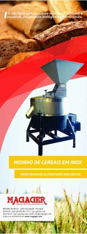 Moinho inox para farinhas bio