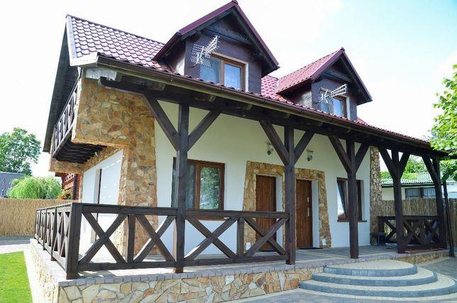 Dom letniskowy nad jeziorem, domek sławianowo, kwatery, dom nr 1