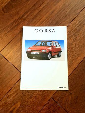 Prospekt Opel Corsa A 92 rok