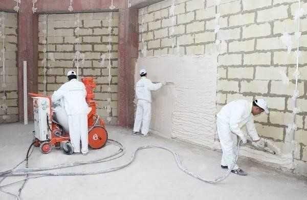 Машинная штукатурка стен от 110 грн м2 Киев