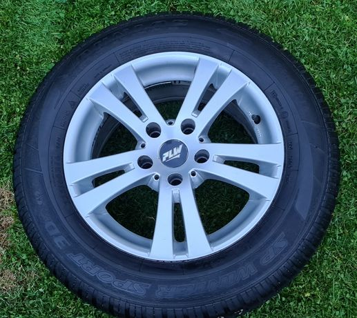 Komplet kół Felgi Aluminiowe PLW 5X120 (7,5JX 16H2 ET38)+ Opony Dunlop