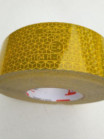 taśma odblaskowa samoprzylepna 5cm plaster miodu orafol ATEST