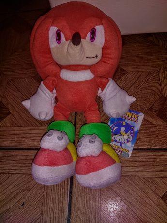 SonicX Knuckles. Maskotka 38 cm. Orginal. Prezent