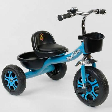 Детский трёхколёсный велосипед Best Trike на 1-4 года разные цвета