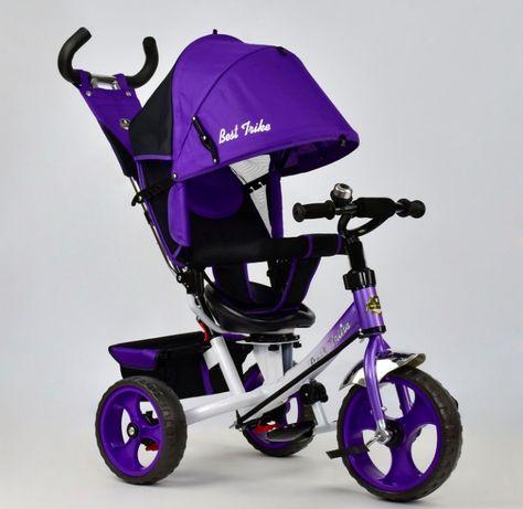 Детский трёхколёсный велосипед, усиленная рама и ручка, Гарантия!