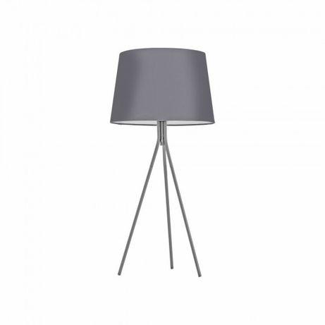 Nowoczesna lampka nocna w stylu Skandynawskim EVELINA abażur szara