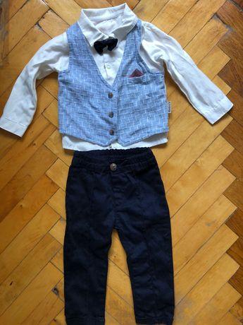 Костюм для мальчика на годик (штаны и рубашка)