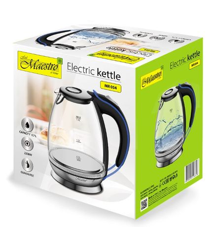 Чайник с подсветкой LED Лед электрический электрочайник стеклянный