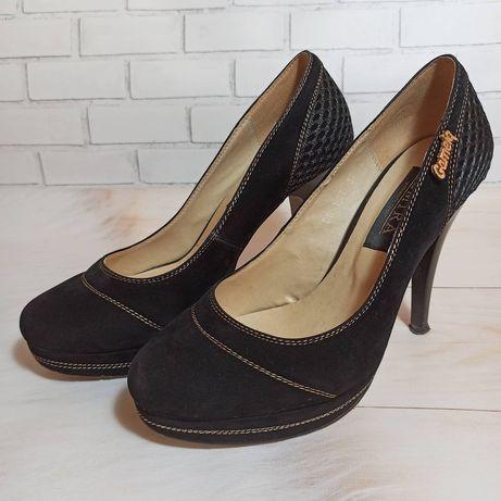 Туфлі каблук замшеві. 37 розмір