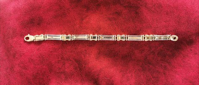 Wyjątkowa złota bransoletka próba 585 unikalna nietypowa pełna