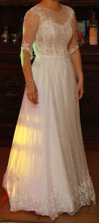 Sukienka ślubna boho 34/36 + welon