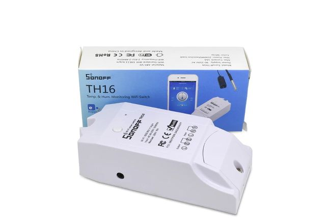Sonoff TH16 умный WiFi выключатель (контроль температуры и влажности)