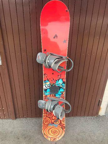 Deska snowboardowa 156cm + wiązania