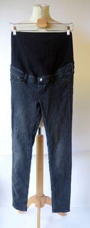 Spodnie H&M Mama Szare Skinny S 36 Ciążowe Rurki Dżinsy Boob Mum Mom