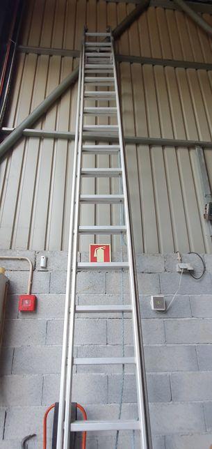 Escada em Aluminio 2x18 e 2x20