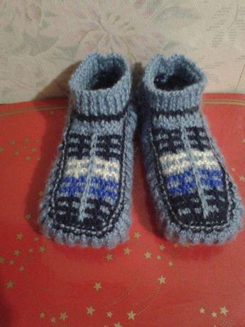 Вязаные следы носки