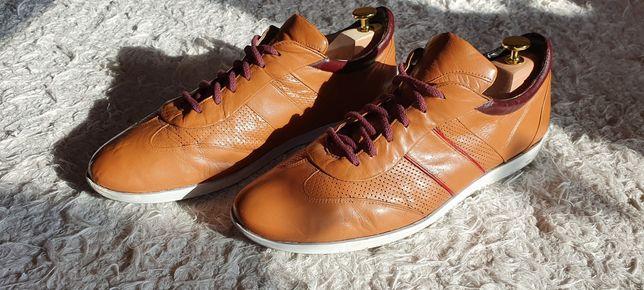 Buty skórzane sportowe męskie nord brązowe rozmiar 42 skóra licowa