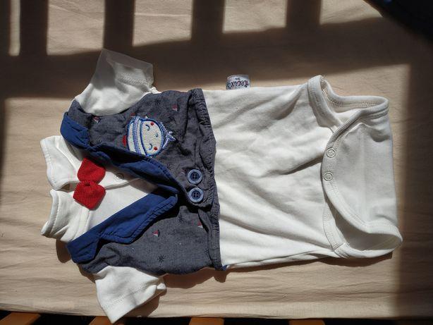 Боди с жилеткой + шорты Нарядный костюмчик на мальчика 3-6 мес