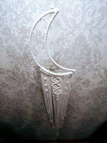 Ozdoba księżyc makrama handmade