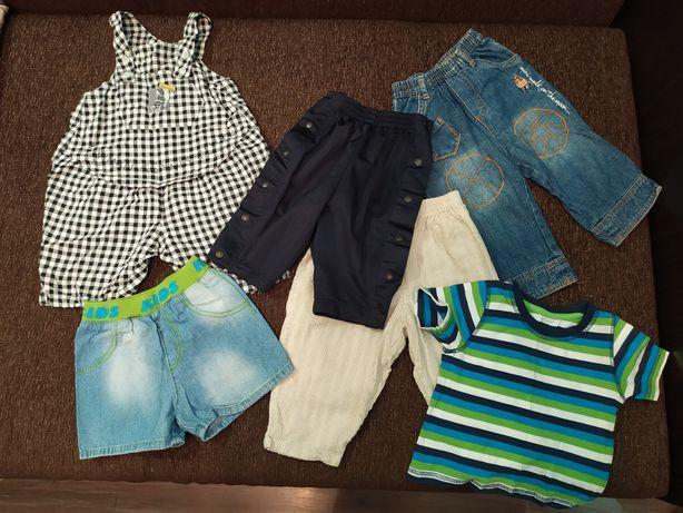 Одежда на мальчика 1-1,5 года (штаны, песочник, футболка, шорты)