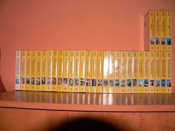 Kolekcja National Geographic i Podwodny świat Cousteau i Panasonic Vhs