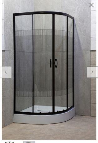 Kabina prysznicowa 90x90 czarna niski brodzik