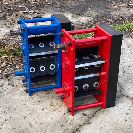 Дробилка веток Измельчитель Подрібнювач гілок Гризли 3-х вальный блок