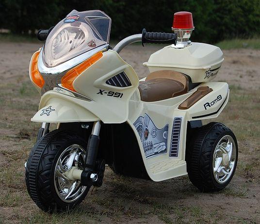 MOTOR MOTOREK POLICYJNY z kogutem na akumulator dla dzieci