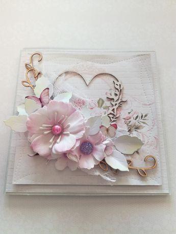 Kartki ślubne ręcznie robione
