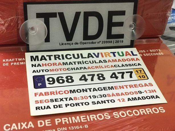 Kit tvde & Matriculas 3M carro & moto
