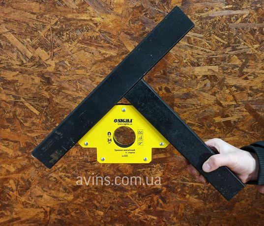 Магнит держатель для сварки шаблон сварочный стрела 45,90,135 градусов