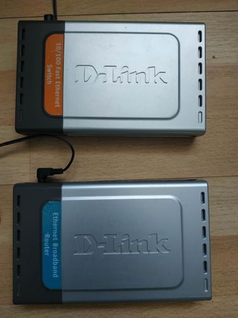Коммутатор D-Link DES-1008D, маршрутизатор DI-704UP свич
