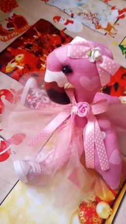 Игрушка Фламинго ручной работы