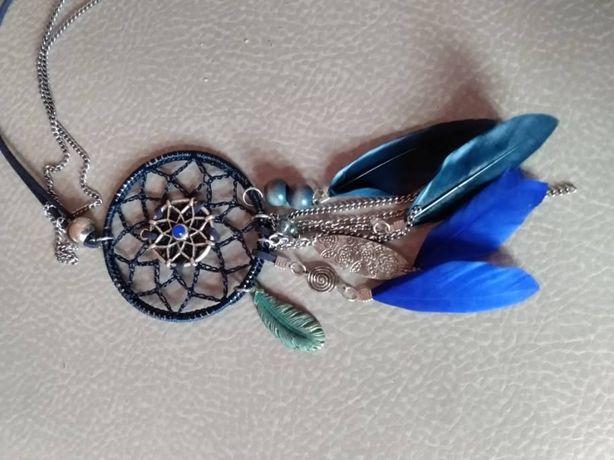 Naszyjnik łapacz snów niebieski