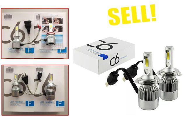 LED Светодиодные лампы C6-H3/H1/H7/H4/H11 Цена за две. SALE!