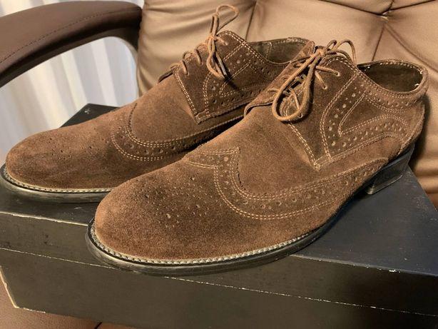 Мужские туфли Gregory Arber. Замш + Кожа