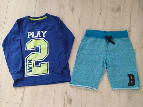 Spodenki krótkie + bluzka rozmiar 116