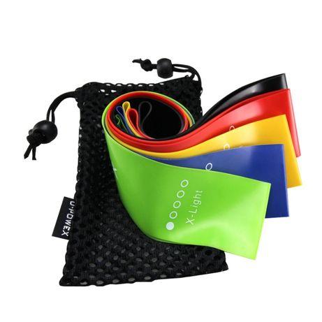 Лента эспандер резинка для фитнеса спорта тренировок Набор U-PoweX