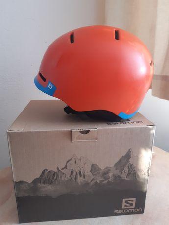 Kask dzieciecy salomon narciarski snowboardowy 55-58 cm STAN idealny