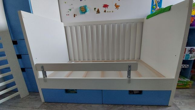 Łóżeczko Ikea Stuva 120x60. Gratis materac + barierka