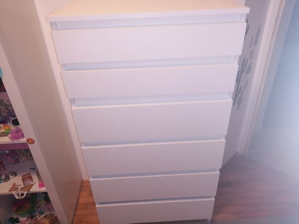 Komoda 6 szuflad biała rezerwacja do czwartku