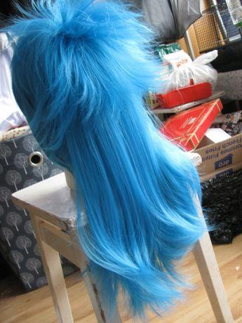 Aoba Dramatical Murder cosplay niebieska długa krótka peruka Seragaki