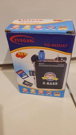 Radio cyfrowe X-Bass MP3 z AUX/USB/SD WBUDOWANY akumulator