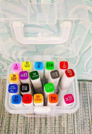 Скетч маркер двусторонний на 18 цветов