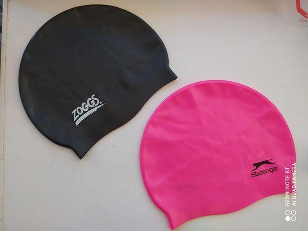 Шапочка для плавания розовая Slazenger черная Zoggs шапка в бассейн